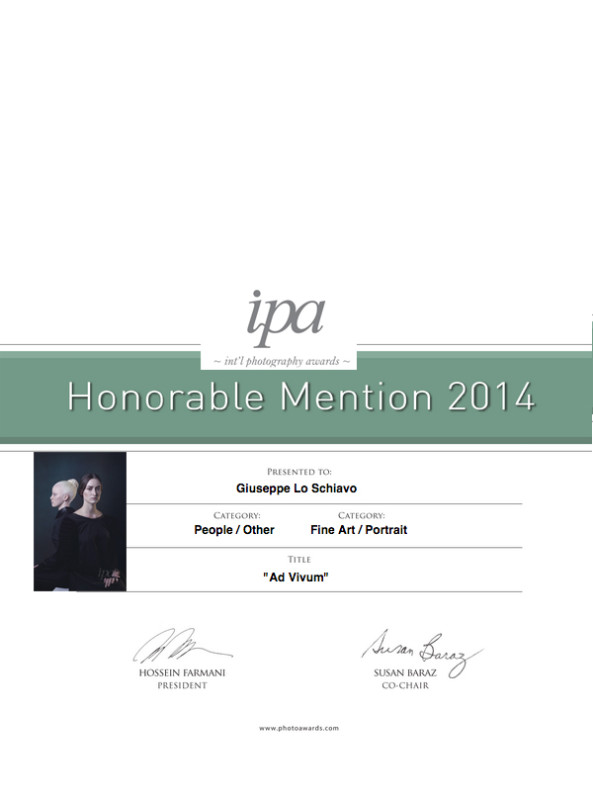 2 Honorable Mentions in the 2014 International Photography Awards